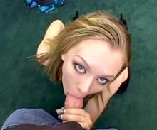 Natasha really has the cock sucking skills that pays the bills. She usually pays the rent by sucking cock. Using her blowjob talents to her advantage. Watch this hot girlfriend on her knees working a fat rod inside her mouth.