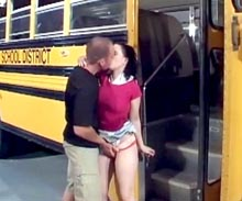 Detention does not seemed to do anything good to this sexy teen. She is the campus slut and now shes doing the school bus driver.